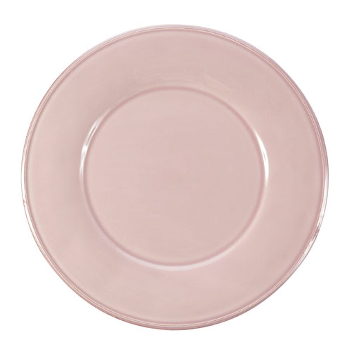 Assiette plate rose pale for Assiette cote table