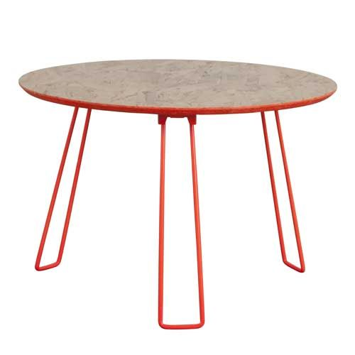 Zuiver - Table basse en métal orange plateau en bois Fluor Zuiver - GM