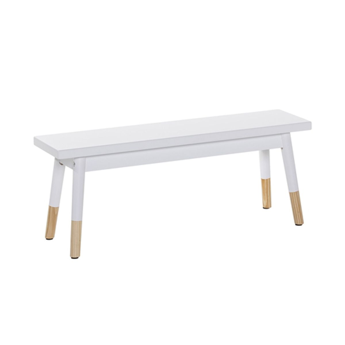 Banc enfant en pin blanc et naturel Bloomingville