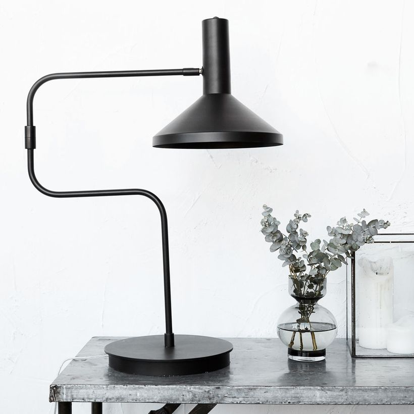 Lampe de bureau en m tal noir mall house doctor decoclico for House doctor bureau