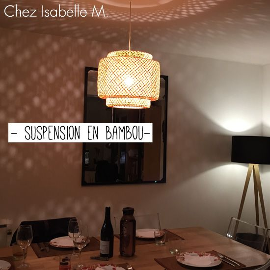 Suspension en bambou chez Isabelle