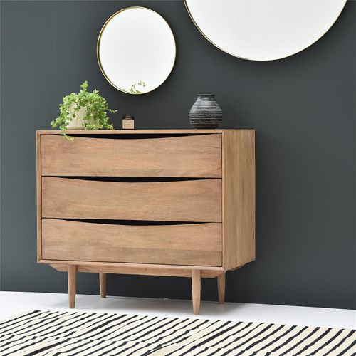 Casatera - Commode en manguier 3 tiroirs Smile
