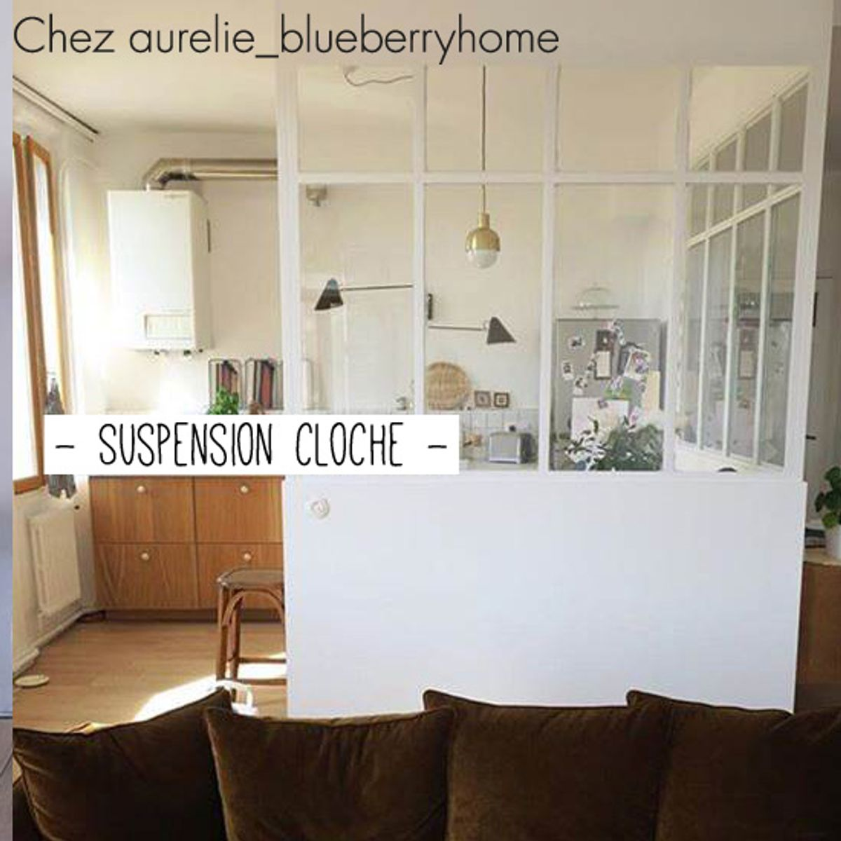 Suspension cloche en métal House Doctor - laiton