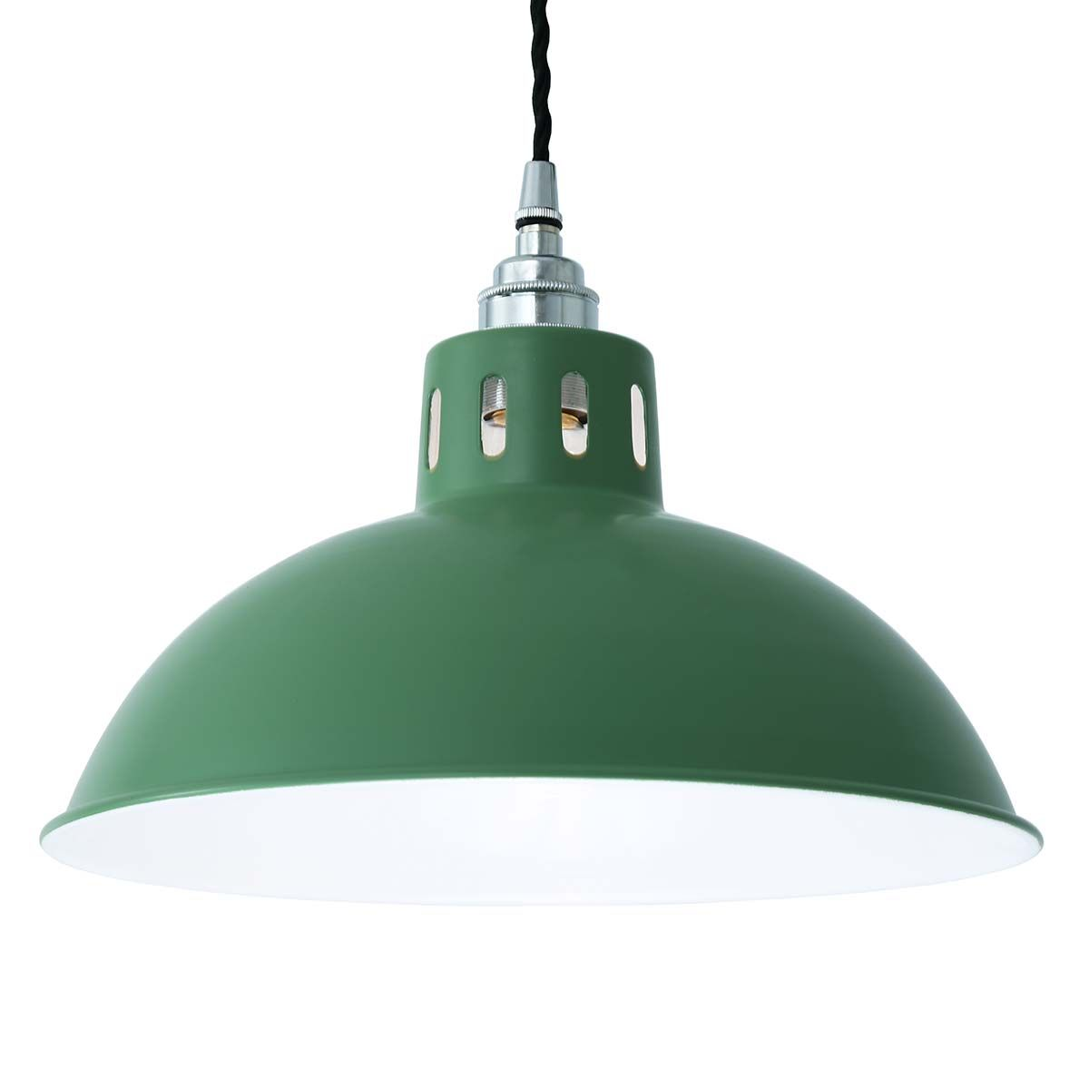 Suspension en aluminium vert menthe Osson Mullan Lighting