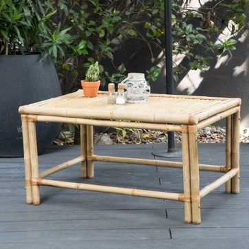 Table basse rectangulaire en bambou naturel Taman