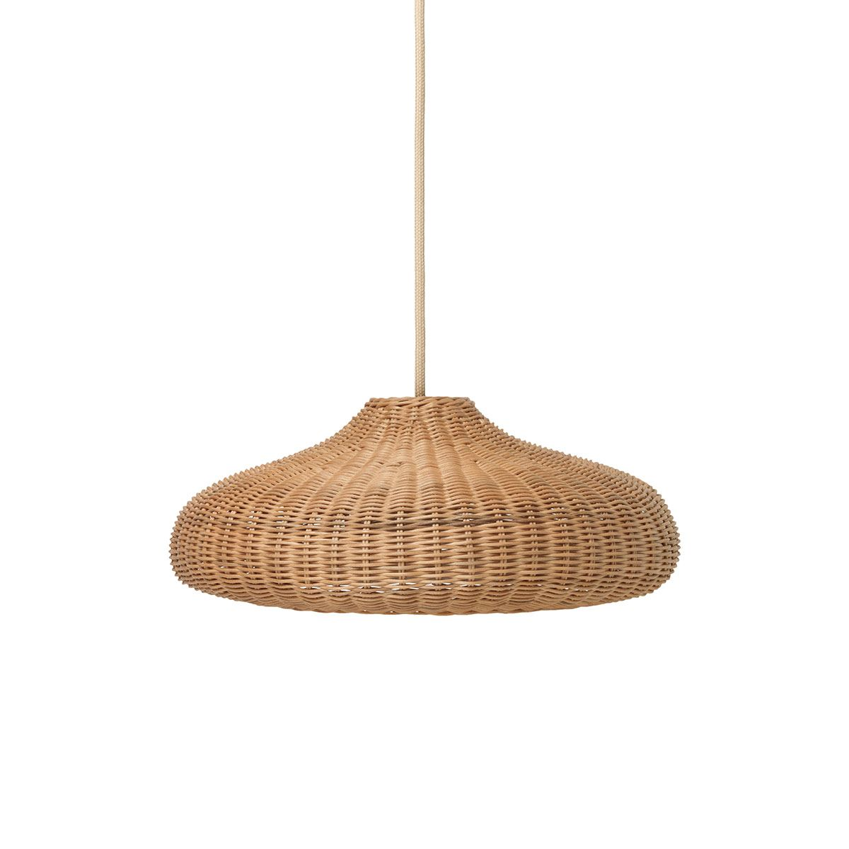 Suspension en rotin naturel tressé main Ferm Living