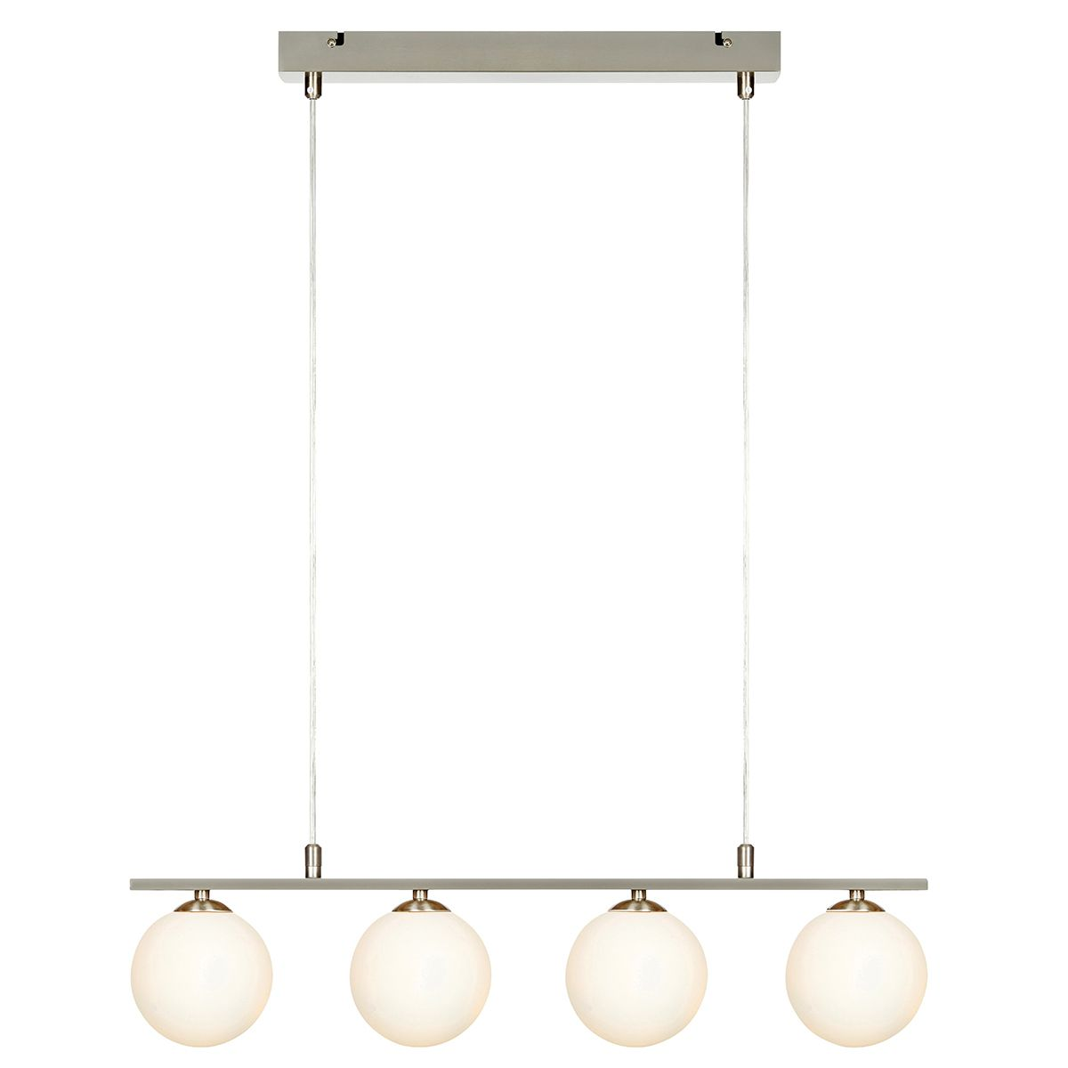 Suspension 4 globes opaque blanc Quattro Markslojd