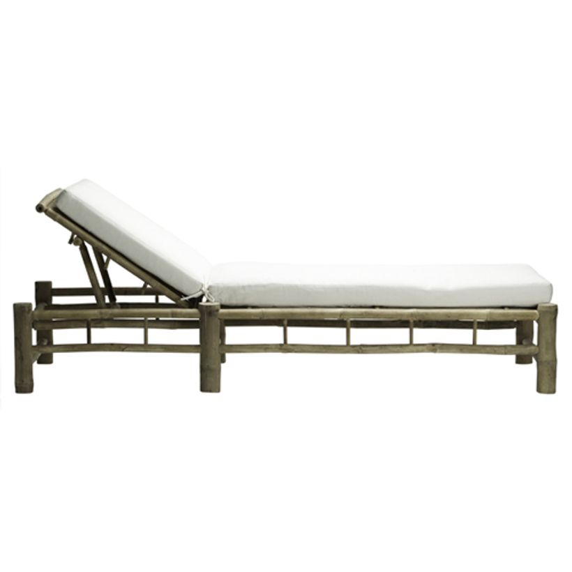 Chaise longue/ Bain de soleil bambou dossier inclinable Tine K Home