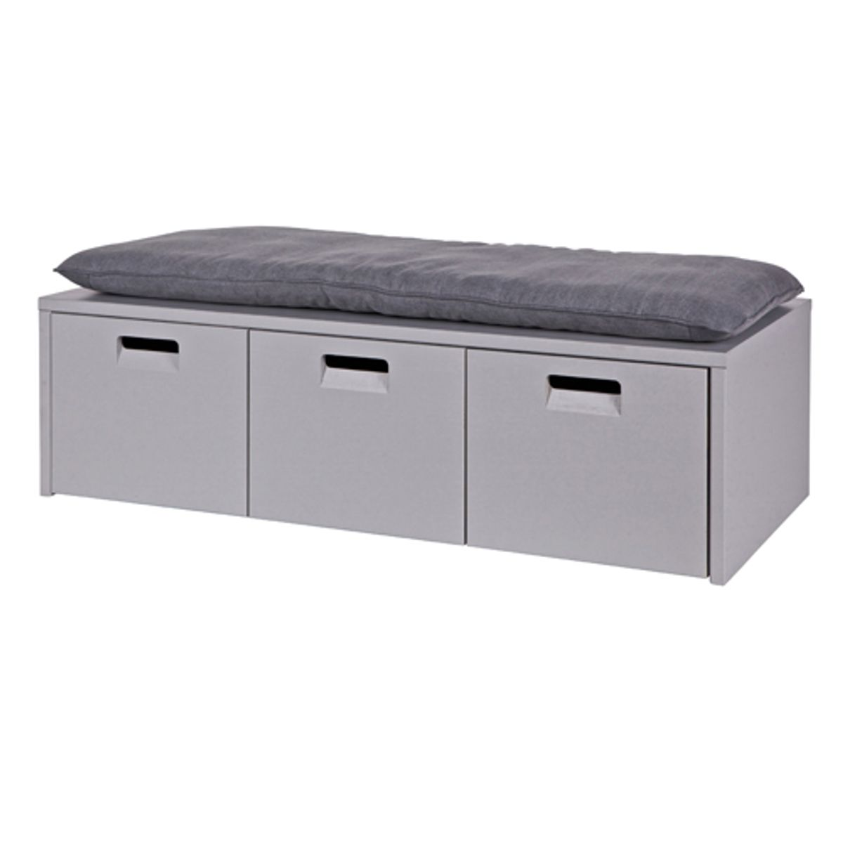 banc en pin gris coffre de rangement 3 tiroirs arthur decoclico. Black Bedroom Furniture Sets. Home Design Ideas