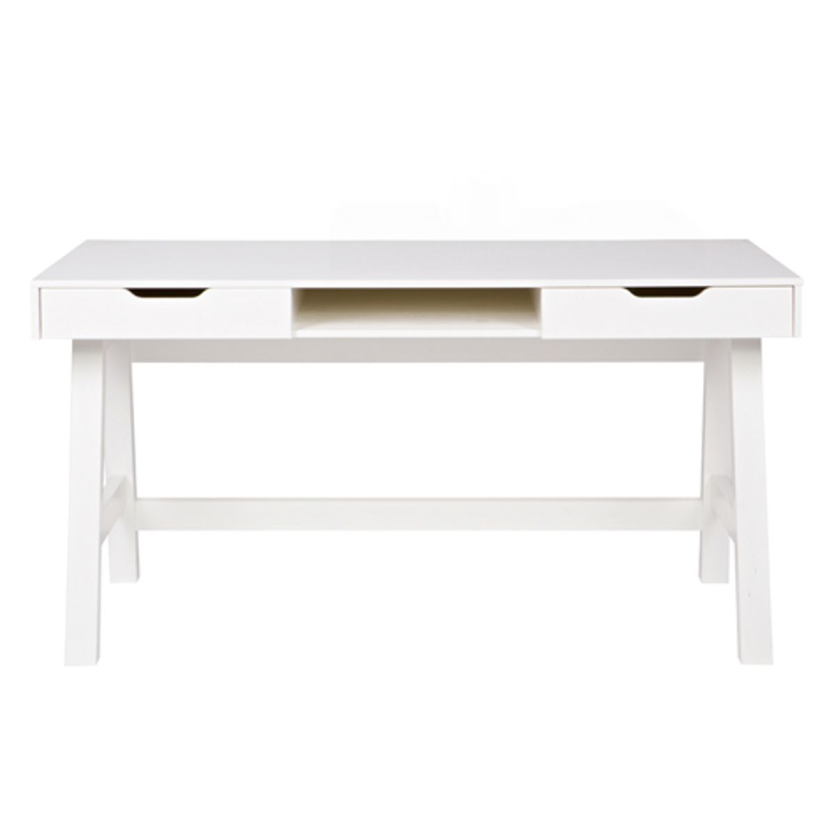 Bureau junior en pin massif Nikki Made by Woood - blanc