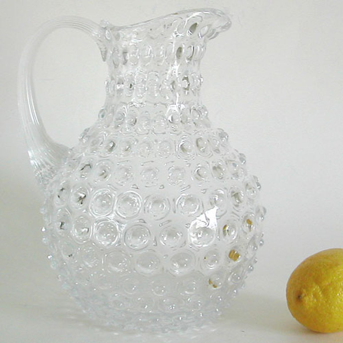 Carafe en verre pointe diamants transparente Chehoma