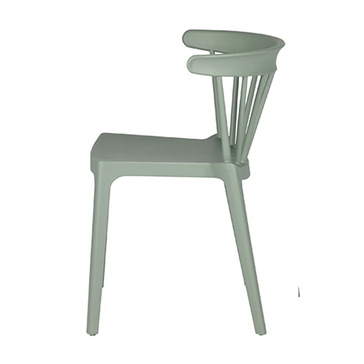 Chaise empilable en plastique Bliss - jade