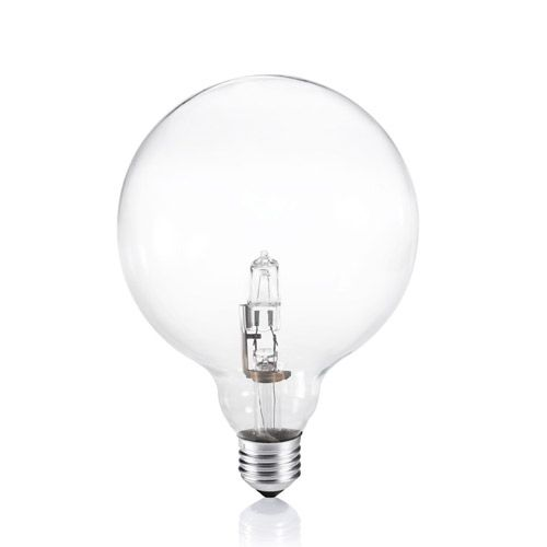 Ideal Lux - Ampoule globe E27/42W en verre transparent 120 mm Globo