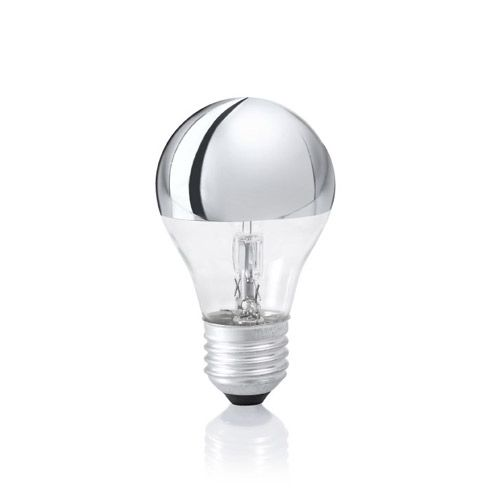 Ideal Lux - Ampoule globe E27/42W en verre transparent et chromé 55 mm