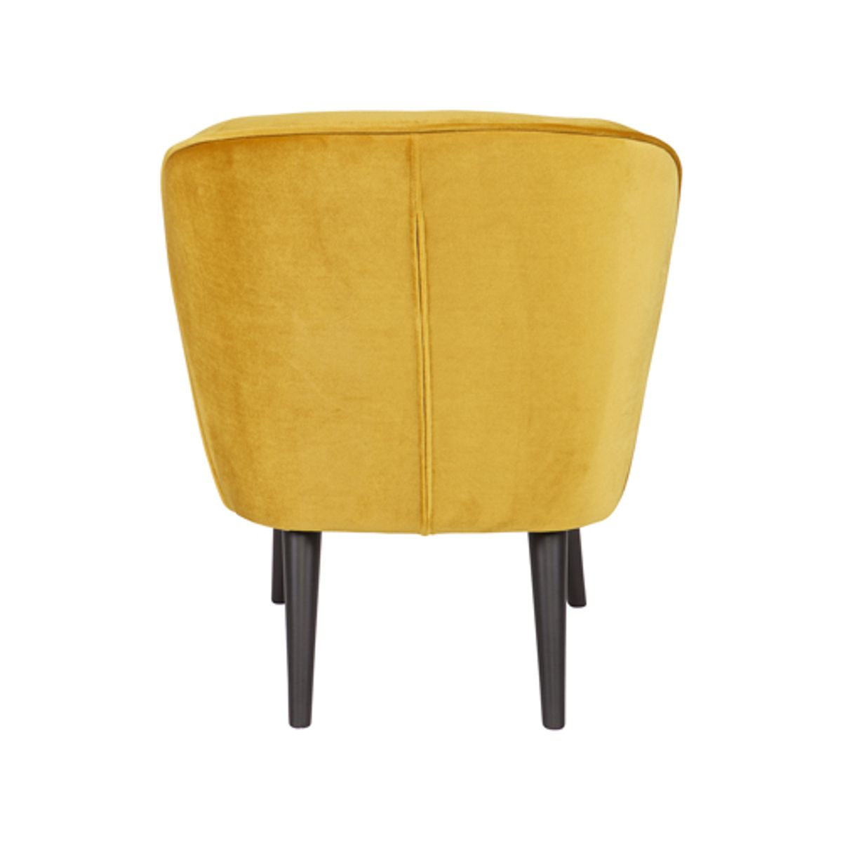 Fauteuil style cocktail en velours Sara  - ocre