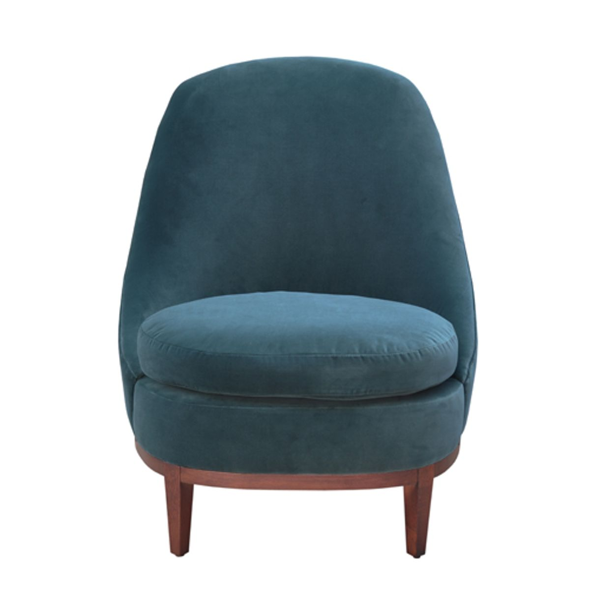 fauteuil en velours de coton bourbon bleu de prusse decoclico. Black Bedroom Furniture Sets. Home Design Ideas