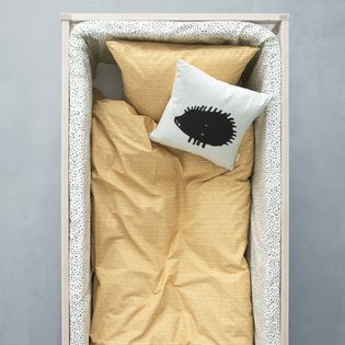 housse de couette b b ou enfant coton bio curry ferm living decoclico. Black Bedroom Furniture Sets. Home Design Ideas
