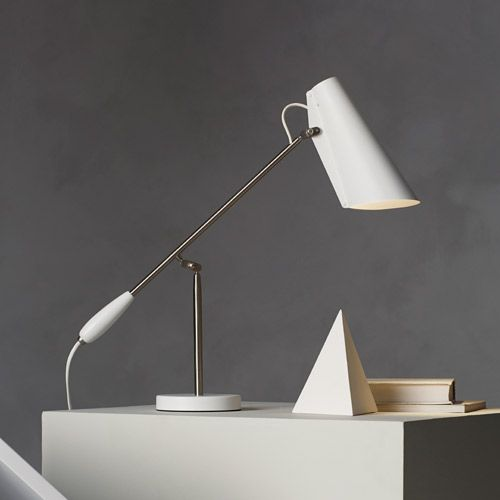 Northern Lighting - Lampe de bureau en aluminium Birdy Northern Lighting - métal et blanc
