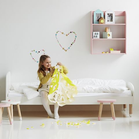 lit enfant 90 x 200 cm en bois avec ou sans matelas flexa play vert decoclico. Black Bedroom Furniture Sets. Home Design Ideas