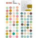 Stickers autocollants Pois collection Just a Touch Mimi Lou