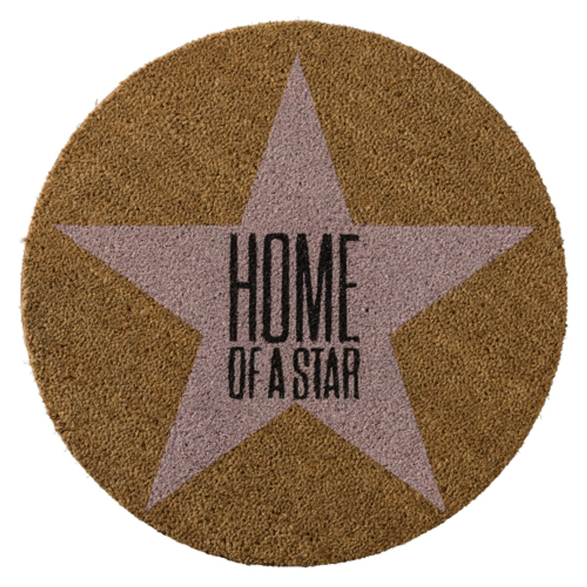 Paillasson rond coco naturel et rose  Home of a star  Bloomingville