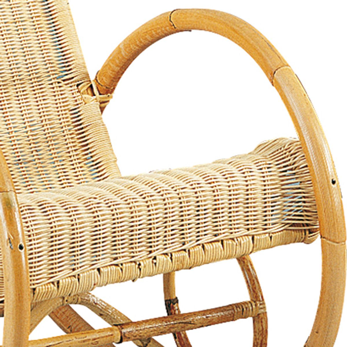 Rocking chair en manau et moelle de rotin naturelle