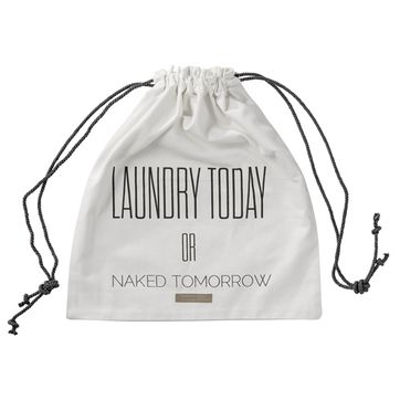 Sac à linge en coton Laundry Today or Naked Tomorrow Bloomingville