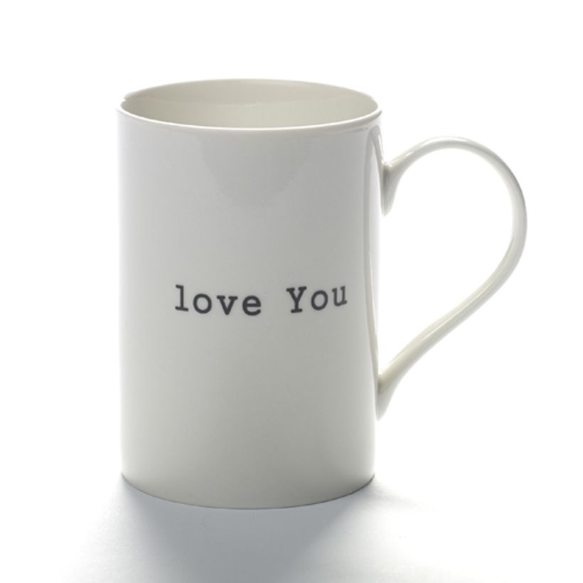 Mug en porcelaine blanche Love You Serax