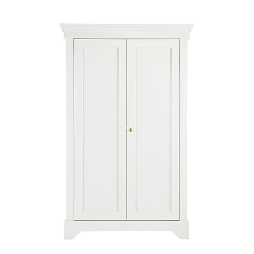 Armoire Ling Re En Pin Massif 4 Tag Res Isabel Gris B Ton Ou  # Armoire Blanche Etagere