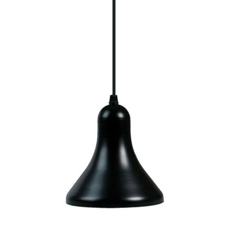Suspension conique en m tal noir picolo decoclico for Suspension metal noir