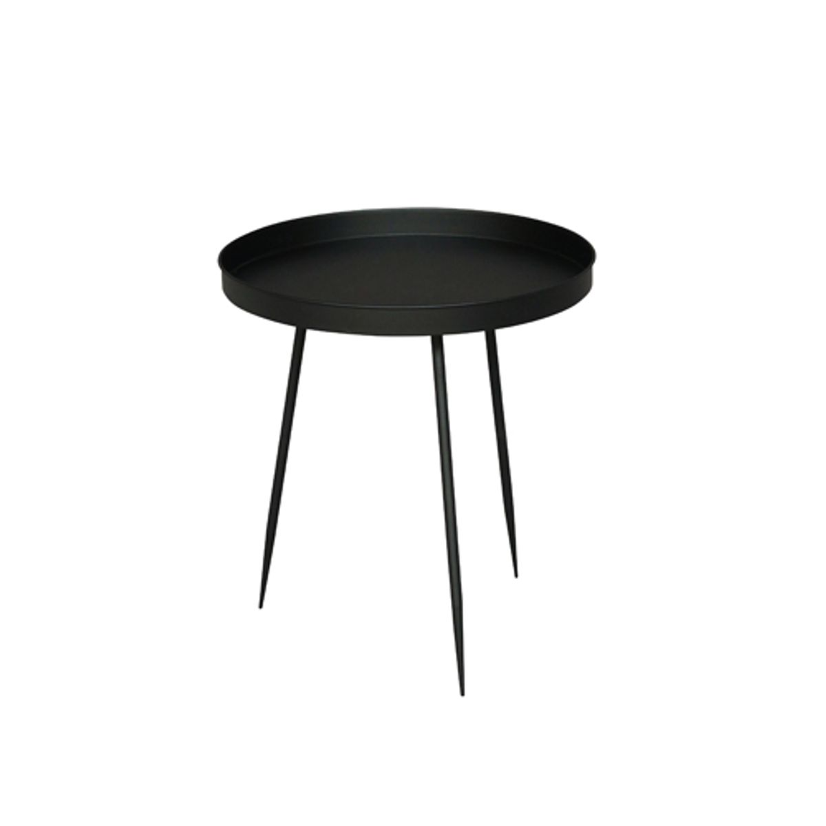 gu ridon table d 39 appoint ronde en m tal noir chehoma. Black Bedroom Furniture Sets. Home Design Ideas