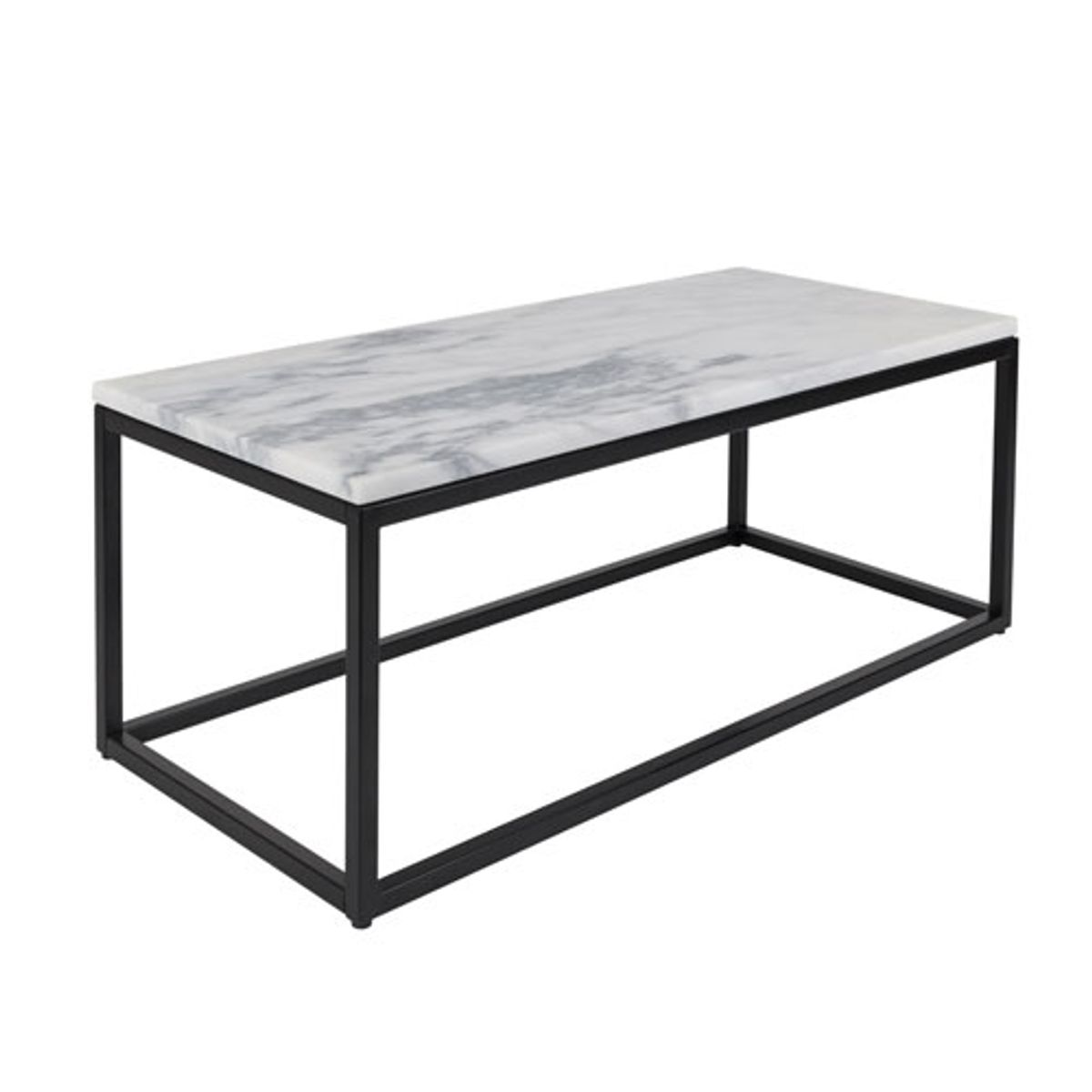 table basse rectangulaire plateau marbre marble power zuiver decoclico. Black Bedroom Furniture Sets. Home Design Ideas